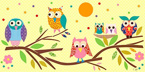 Cute Owls Painting for Kids