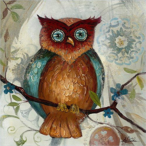 Cute Owl Acrylic Painting