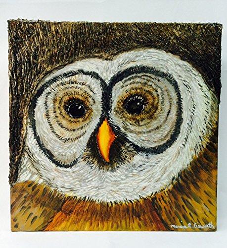 Owl Original Oil on Canvas
