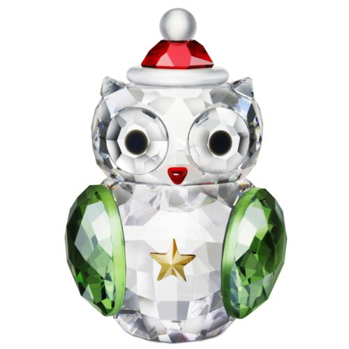 Adorable Swarovski Crystal Christmas Owl