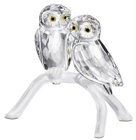 Swarovski Crystal Owls on Branch