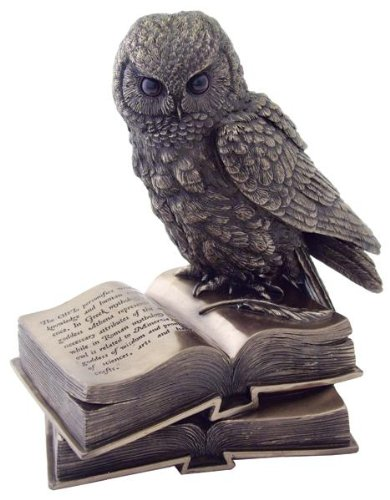 Owl Perched on Two Books Figurine