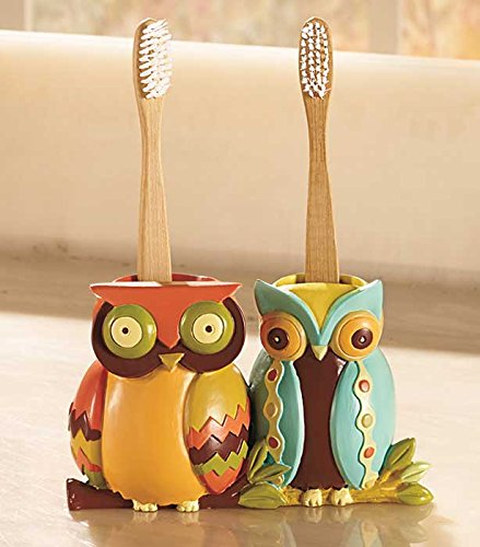 Cute Owls Toothbrush Holder