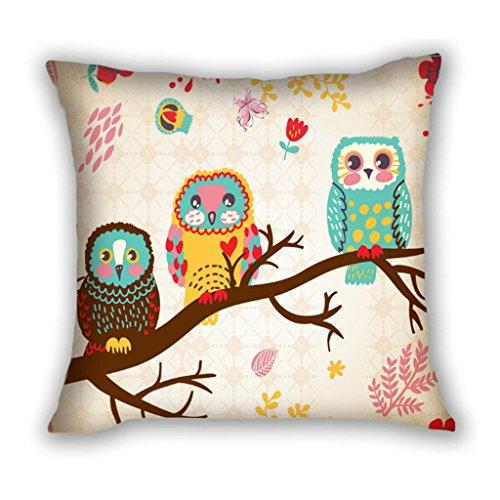 Happy Owls Throw Pillow
