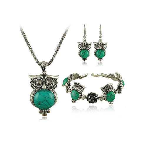 Beautiful Owl Jewelry Gift Set