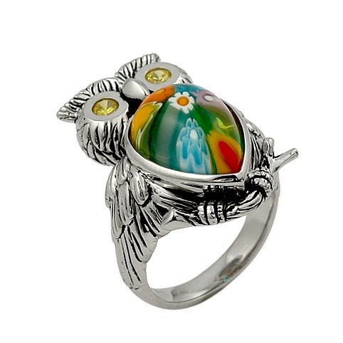Colorful Owl Ring