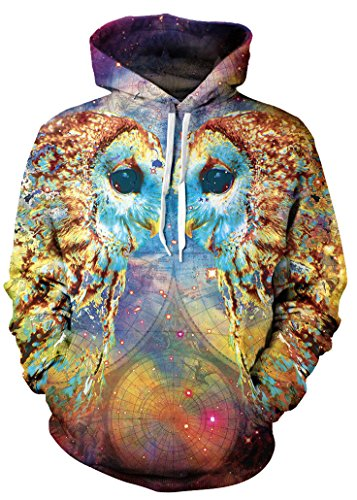 Psychedelic Colorful Owl Hoodie