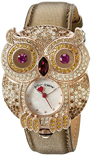 Betsey Johnson Sparkly Rhinestone Owl Shaped Watch