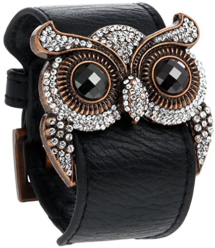 Cute Owl Leather Cuff Bracelet for Sale