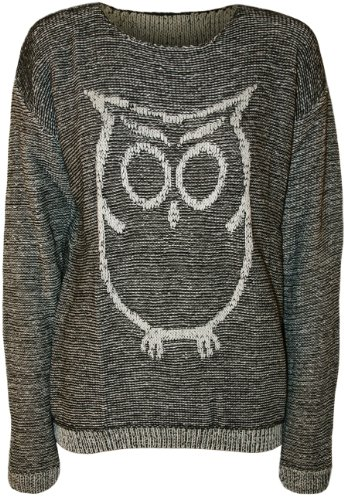 Unique Owl Long Sleeve Knitted Jumper