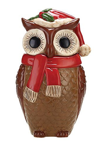 Brown Owl Ceramic Cookie Jar