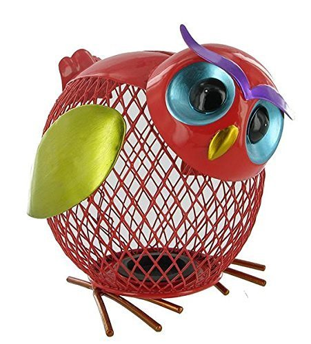 Metal Owl Shaped Piggy Bank
