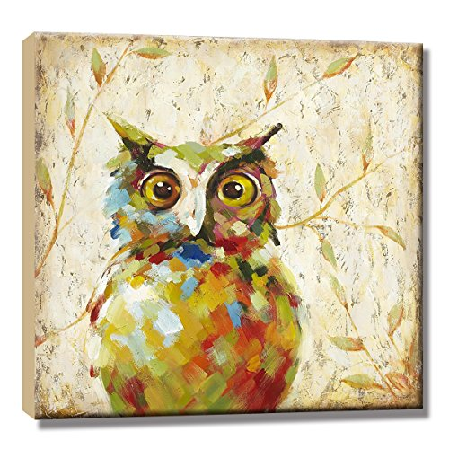Hand Painted OWL Oil Painting