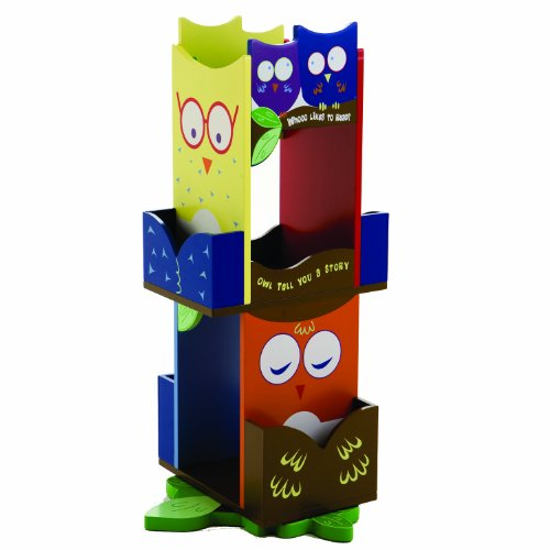 Cute Owls Revolving Bookcase