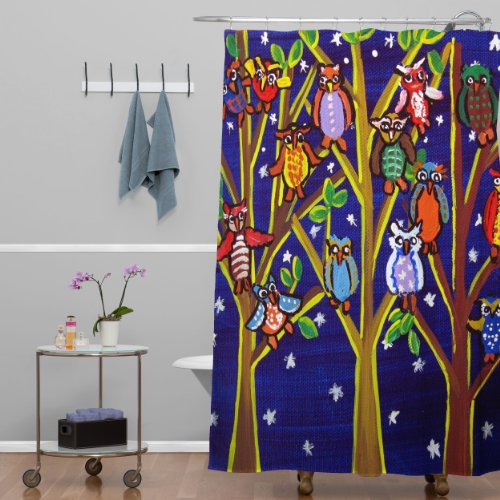 Owl Party Shower Curtain