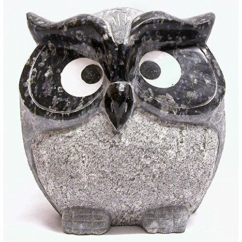 Stone Owl Sculpture