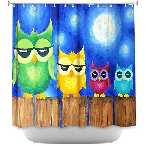 Artistic Owl Shower Curtain