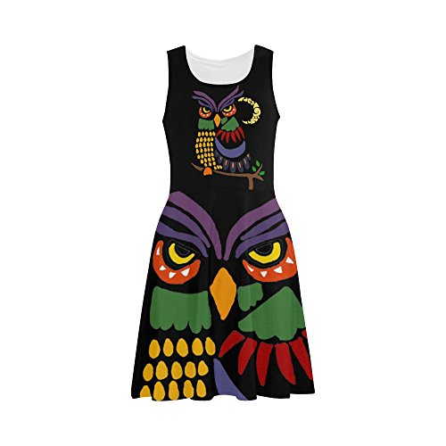 Colorful Owl And Moon Abstract Sundress